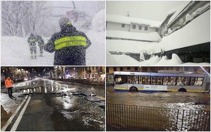 Maltempo, neve e piogge al Nord. Paesi isolati in Val d'Aosta