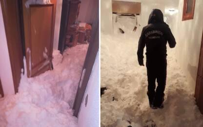 Slavina a Sestriere, massa di neve nelle case. VIDEO