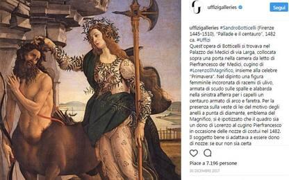 Uffizi: 400mila follower su Instagram, il museo più seguito in Italia