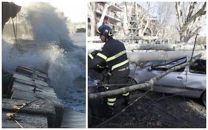 Il vento sferza l'Italia: disagi e feriti. Un morto a Crotone