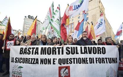 Morti sul lavoro, a Milano la manifestazione dei sindacati