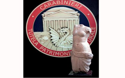 Torna in Italia la statua di Afrodite del I secolo rubata nel 2011