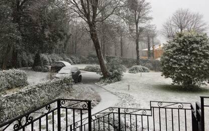 Maltempo, neve alle porte di Roma