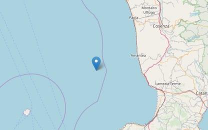 Terremoto, scossa di magnitudo 3.1 al largo del Cosentino