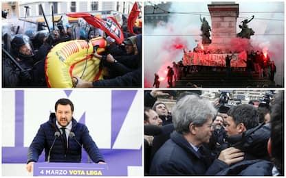 Sabato di cortei, tensione a Milano