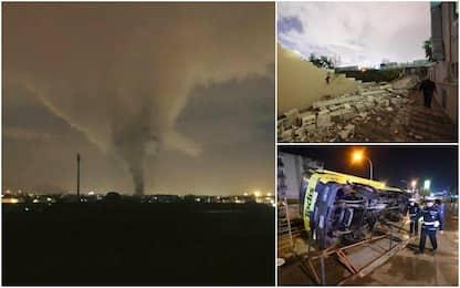 Tornado Caserta: otto feriti, uno grave. Iniziata la conta dei danni