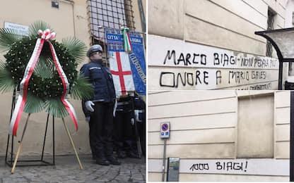 """Scritte contro Marco Biagi. Il figlio: """"Lo Stato lo ha abbandonato"""""""