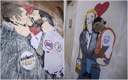 Murales bacio Di Maio - Salvini, immagine rimossa
