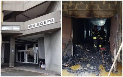 Incendio negli uffici giudice di pace a Bari, indaga l'Antimafia
