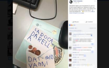 Milano, bimbo dona i risparmi all'oncologo che ha curato la madre