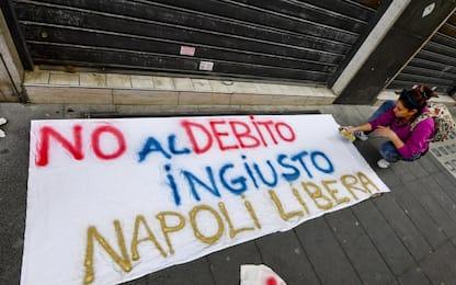 Debito Napoli, manifestazioni