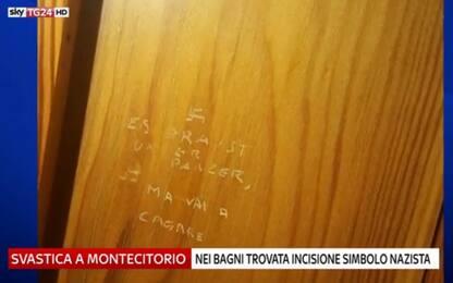 Montecitorio, svastica e verso nazista incisi sulla porta di un bagno
