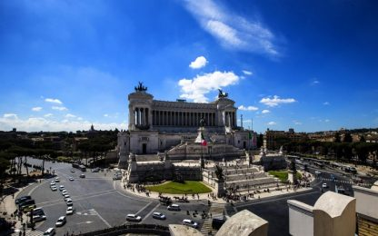 Bagna i piedi in fontana dell'Altare della Patria: turista denunciata