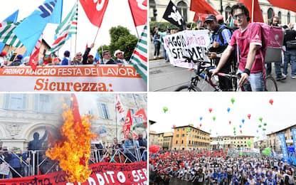 Primo maggio, cortei in tutta Italia