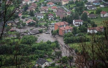 Frana a Bussoleno, le immagini dei danni