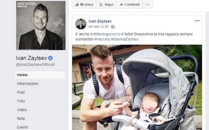 Zaytsev vaccina la figlia, pioggia di insulti sul web