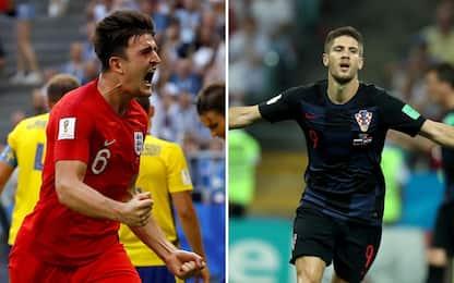 Inghilterra e Croazia in semifinale