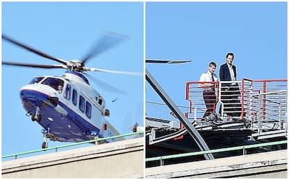 Elkann in elicottero al Lingotto