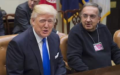 Fca recupera dopo il crollo di ieri in Borsa. Trump omaggia Marchionne