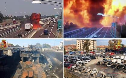 Incidente Bologna, tir esplode sul raccordo: 1 morto, oltre 100 feriti