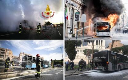 Autobus in fiamme a Roma: tutti i casi dall'inizio del 2018