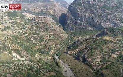 Torrente Raganello, il drone sorvola la zona delle Gole: VIDEO