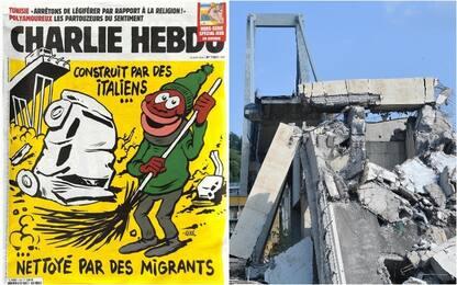 Charlie Hebdo, vignetta choc sul crollo del ponte di Genova