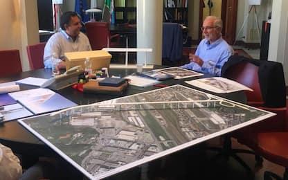 Genova, l'idea di ponte di Renzo Piano: 43 pali in omaggio a vittime