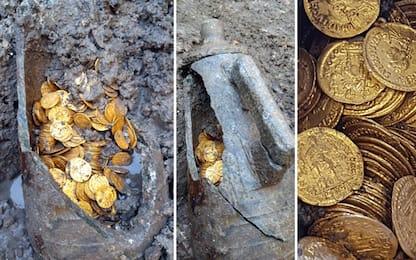 Como, trovata un'anfora di epoca romana piena di monete d'oro