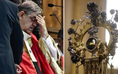 San Gennaro, si ripete il miracolo a Napoli. Malore per cardinale Sepe