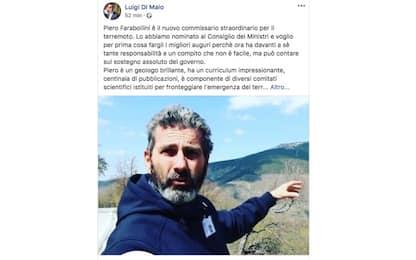 Terremoto, il nuovo commissario straordinario è Piero Farabollini