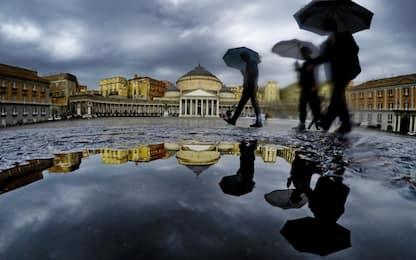 Temporali e rovesci, allerta meteo in Campania