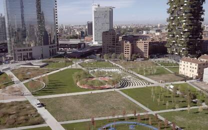 Milano, inaugura il parco Biblioteca degli Alberi in zona Porta Nuova