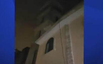 Tromba d'aria a Manduria, crolla il campanile