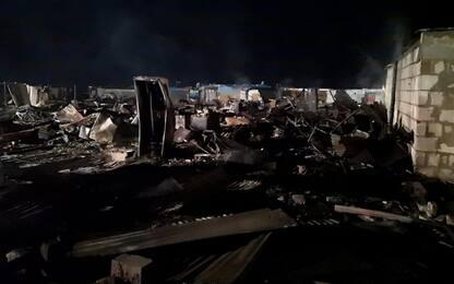 Incendio in baraccopoli nel Foggiano
