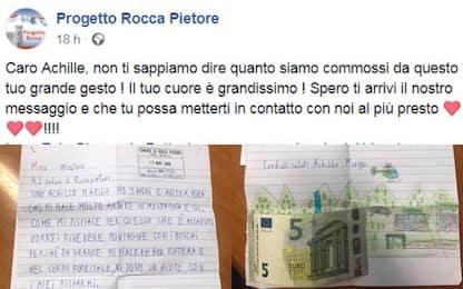 """Maltempo, bimbo di 9 anni dona 5 euro per """"salvare le montagne"""""""