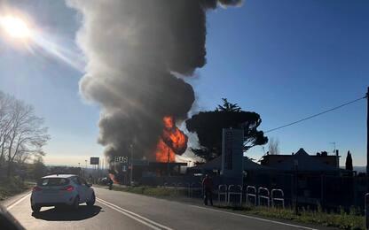 Rieti, esplosione in distributore benzina