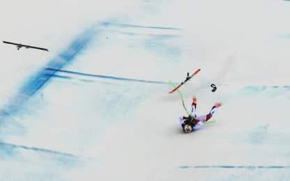 Coppa del mondo di sci, Gisin cade nella libera in Val Gardena