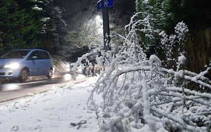 Maltempo, nel Beneventano nevica anche a bassa quota
