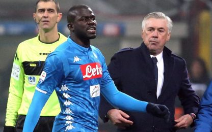"""Insulti a Koulibaly, l'Uefa: """"Non rispettato protocollo antirazzismo"""""""