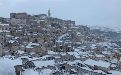 Maltempo, ondata di gelo in Italia: Puglia e Basilicata imbiancate