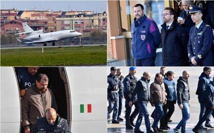 Cesare Battisti, l'atterraggio a Ciampino. FOTO