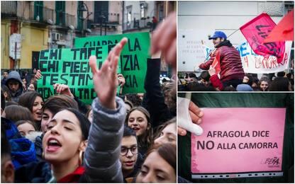 Bombe ad Afragola: corteo anti-clan, presente Gino Sorbillo