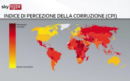 Corruzione, Italia al 53esimo posto nell'Indice di Percezione mondiale