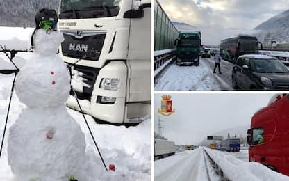 Meteo, autostrada del Brennero A22 chiusa per neve. Tutte le news