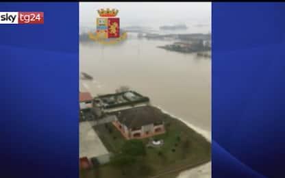 Esondazione del fiume Reno, le immagini dall'alto. VIDEO