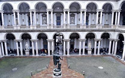 Milano, infiltrazioni e pavimento allagato alla Pinacoteca di Brera