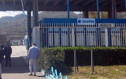 Protesta degli operai Blutec davanti Presidenza Regione Siciliana