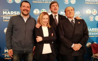 Salvini in Abruzzo con Meloni-Berlusconi. Ma stop a ritorno coalizione