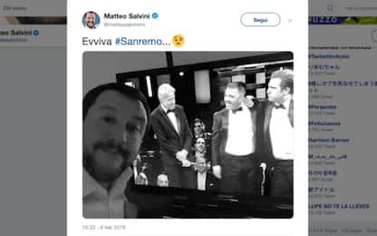Sanremo: ironia di Pio e Amedeo su Salvini, lui risponde sui social